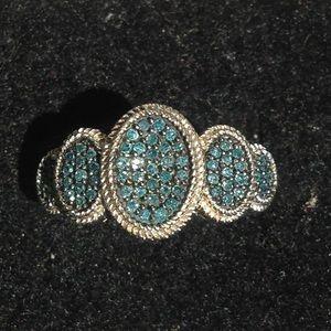 Jewelry - Authentic .33 karat diamond & silver ring